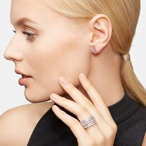 Henri Bendel Luxe Pave Deco Bar Stud Earrings